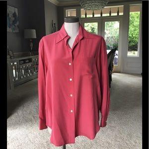 NWOT J Crew pink silk blouse